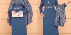 Robe de soirée voilée magnifique design
