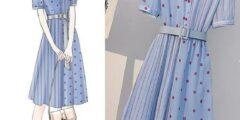 أحدث موديلات فستان الفيست الدابل  2020