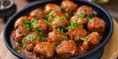 طريقة عمل كرات اللحم مع صوص الباربكيو