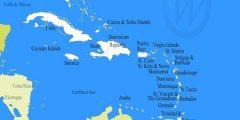 اين يقع البحر الكاريبي وما هي الدول المطلّة عليه