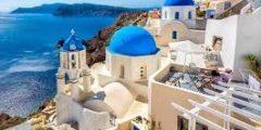 رحلة إلى مدينة سانتوريني اليونانية بالفيديو